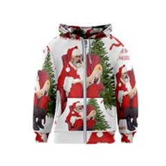 Karl Marx Santa  Kids  Zipper Hoodie