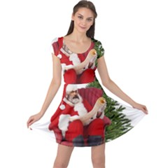 Karl Marx Santa  Cap Sleeve Dress