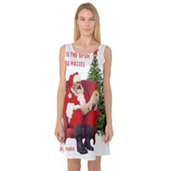Karl Marx Santa  Sleeveless Satin Nightdress