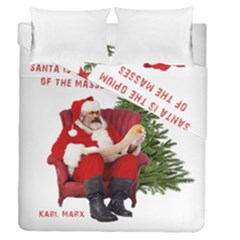 Karl Marx Santa  Duvet Cover Double Side (queen Size)