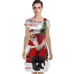 Karl Marx Santa  Cap Sleeve Nightdress