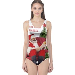 Karl Marx Santa  One Piece Swimsuit