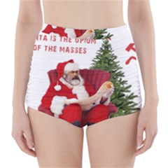 Karl Marx Santa  High Waisted Bikini Bottoms