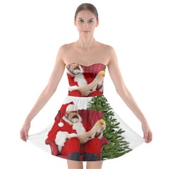 Karl Marx Santa  Strapless Bra Top Dress