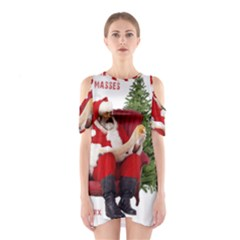 Karl Marx Santa  Shoulder Cutout One Piece