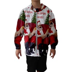 Karl Marx Santa  Hooded Wind Breaker (kids)