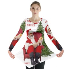 Karl Marx Santa  Long Sleeve Tunic