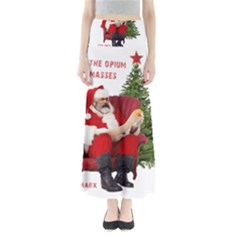 Karl Marx Santa  Full Length Maxi Skirt