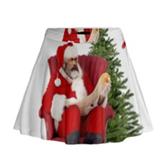 Karl Marx Santa  Mini Flare Skirt