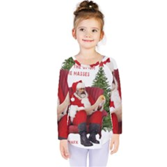 Karl Marx Santa  Kids  Long Sleeve Tee