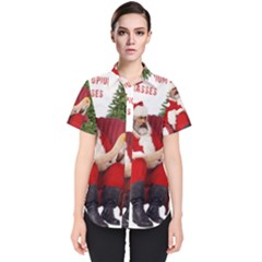 Karl Marx Santa  Women s Short Sleeve Shirt