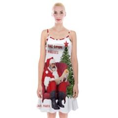 Karl Marx Santa  Spaghetti Strap Velvet Dress