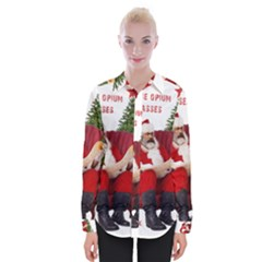 Karl Marx Santa  Womens Long Sleeve Shirt