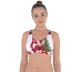 Karl Marx Santa  Cross String Back Sports Bra
