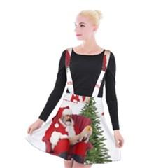 Karl Marx Santa  Suspender Skater Skirt