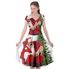 Karl Marx Santa  Cap Sleeve Wrap Front Dress