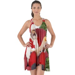 Karl Marx Santa  Show Some Back Chiffon Dress