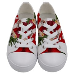 Karl Marx Santa  Kids  Low Top Canvas Sneakers