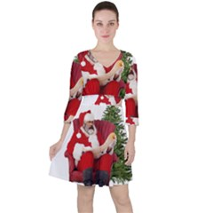 Karl Marx Santa  Ruffle Dress