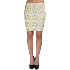 Chilli Pepers Pattern Motif Bodycon Skirt