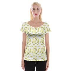 Chilli Pepers Pattern Motif Cap Sleeve Tops