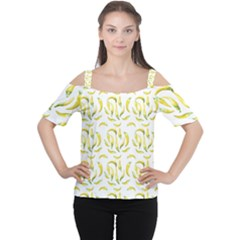 Chilli Pepers Pattern Motif Cutout Shoulder Tee