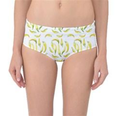 Chilli Pepers Pattern Motif Mid Waist Bikini Bottoms