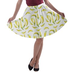 Chilli Pepers Pattern Motif A Line Skater Skirt