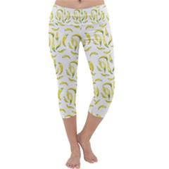 Chilli Pepers Pattern Motif Capri Yoga Leggings