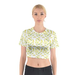 Chilli Pepers Pattern Motif Cotton Crop Top