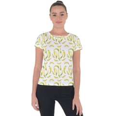 Chilli Pepers Pattern Motif Short Sleeve Sports Top