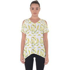 Chilli Pepers Pattern Motif Cut Out Side Drop Tee