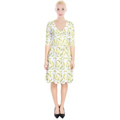Chilli Pepers Pattern Motif Wrap Up Cocktail Dress