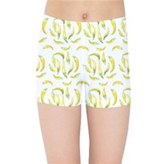 Chilli Pepers Pattern Motif Kids Sports Shorts