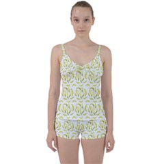 Chilli Pepers Pattern Motif Tie Front Two Piece Tankini