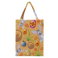 Easter Bunny And Egg Basket Classic Tote Bag