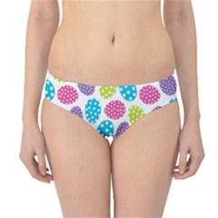 Polka Dot Easter Eggs Hipster Bikini Bottoms