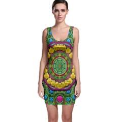 Bohemian Chic In Fantasy Style Bodycon Dress