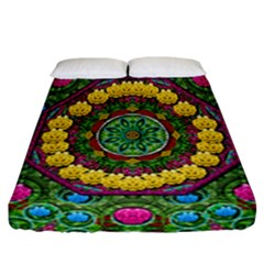 Bohemian Chic In Fantasy Style Fitted Sheet (california King Size)