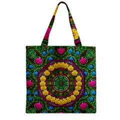 Bohemian Chic In Fantasy Style Zipper Grocery Tote Bag