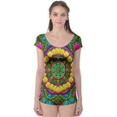 Bohemian Chic In Fantasy Style Boyleg Leotard