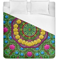 Bohemian Chic In Fantasy Style Duvet Cover (king Size)