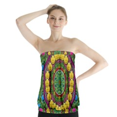 Bohemian Chic In Fantasy Style Strapless Top