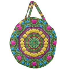 Bohemian Chic In Fantasy Style Giant Round Zipper Tote
