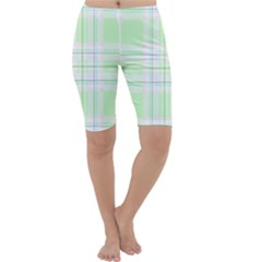 Green Pastel Plaid Cropped Leggings