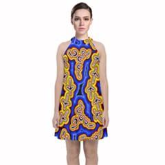 Emu Dreaming Velvet Halter Neckline Dress