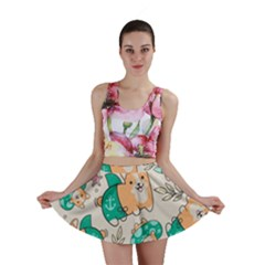 Corgi Beach Party Mini Skirt