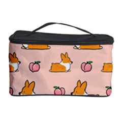 Corgi Peach Sploot Fabric Cosmetic Storage Case