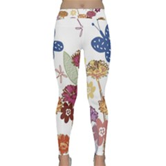 Flowers Butterflies Dragonflies Classic Yoga Leggings