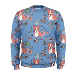 Dog Corgi Pattern Men s Sweatshirt